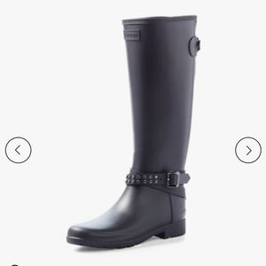 NIB Hunter Blk adjustable studded tall boots
